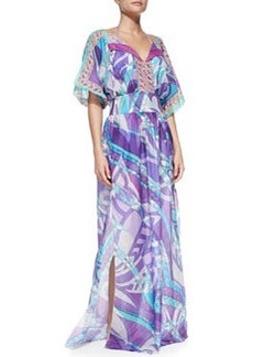 Long Printed Maxi Coverup   Long Printed Maxi Coverup