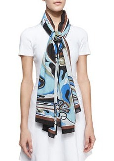 Orchidee Show Scarf, Light Blue   Orchidee Show Scarf, Light Blue
