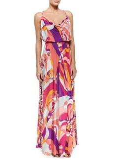 Printed Sleeveless Jersey Maxi Dress   Printed Sleeveless Jersey Maxi Dress