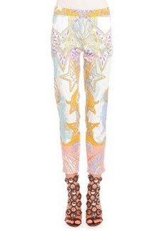 Sateen Wings & Stars Printed Pants   Sateen Wings & Stars Printed Pants
