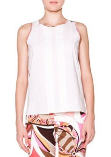 Sleeveless Top W/ Printed Back   Sleeveless Top W/ Printed Back