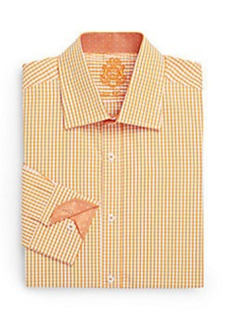 English laundry english laundry regular fit pindot trim for 17 33 shirt size