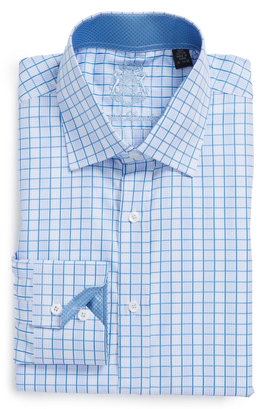 English laundry english laundry trim fit check dress shirt for 17 33 shirt size