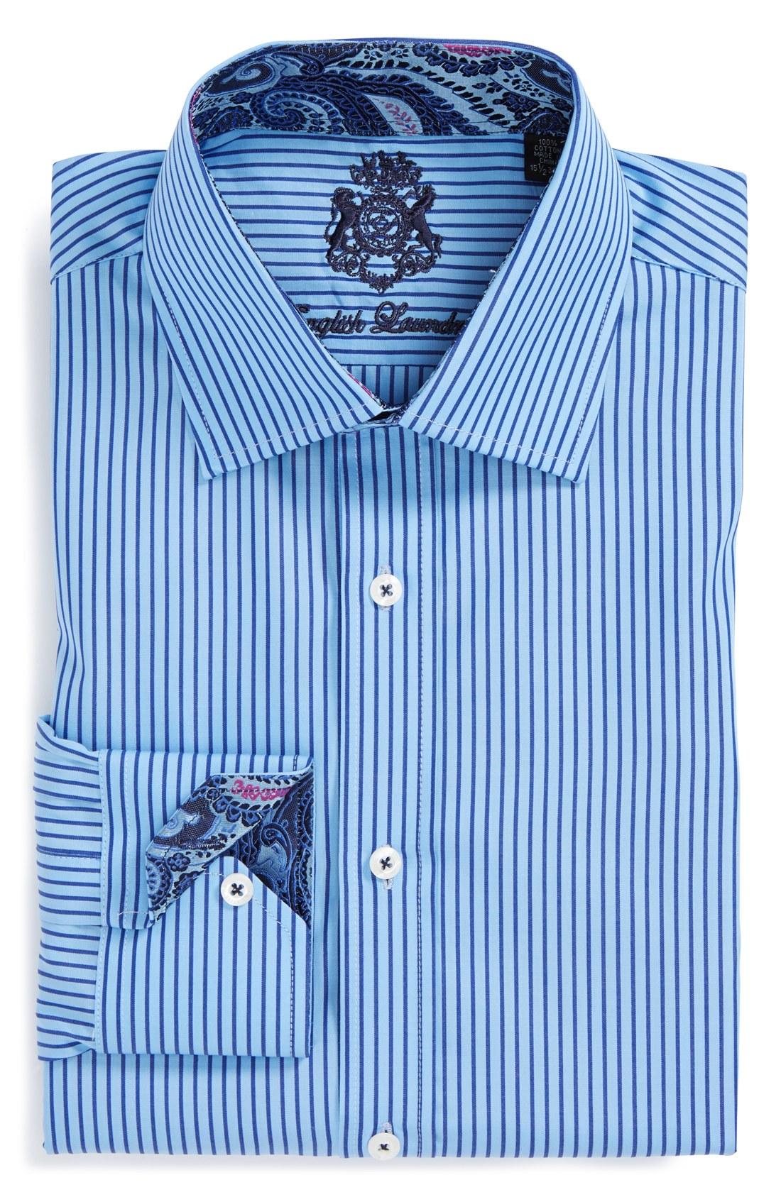 English laundry english laundry trim fit stripe dress for 17 33 shirt size