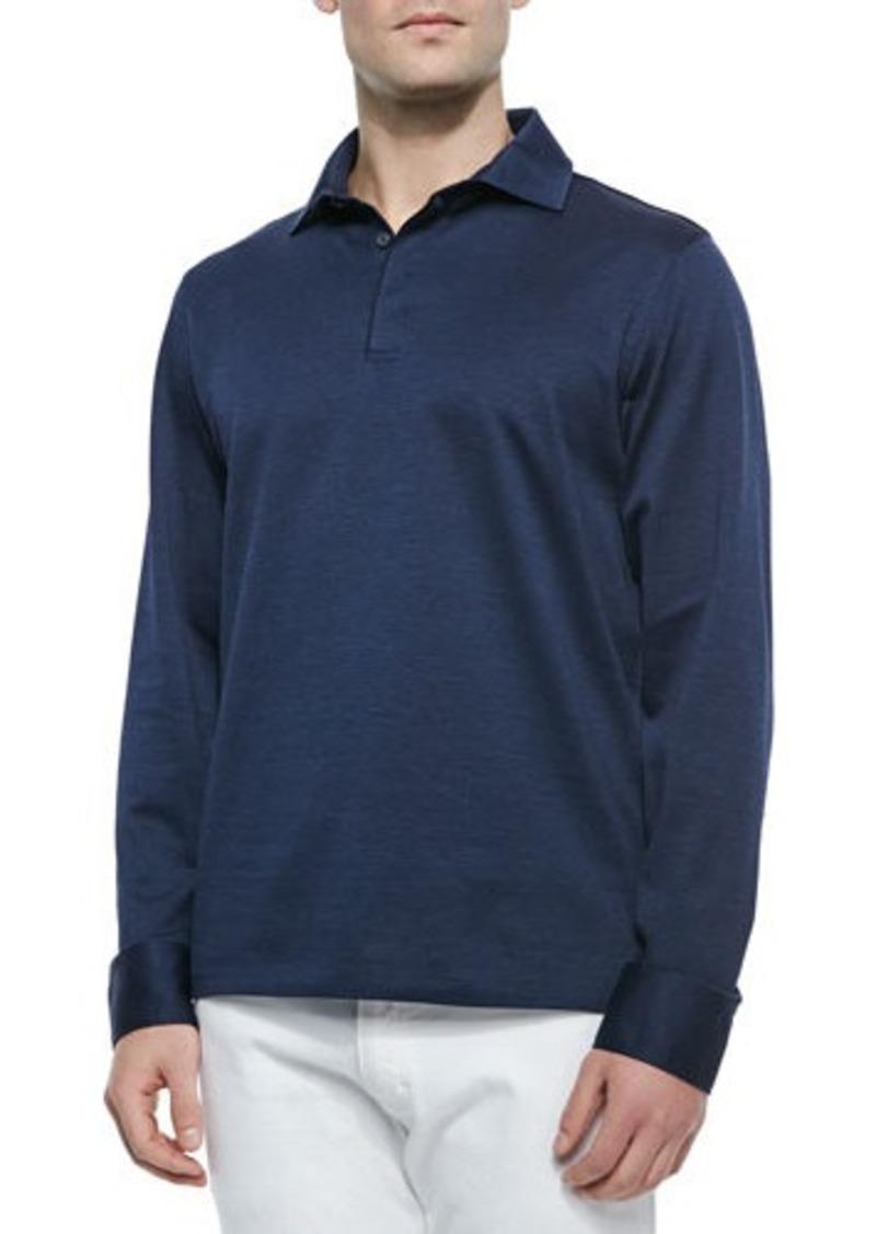 Ermenegildo zegna ermenegildo zegna long sleeve knit polo for Zegna polo shirts sale