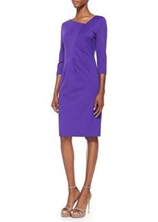 Escada 3/4-Sleeve Dress W/ Ruched Waist