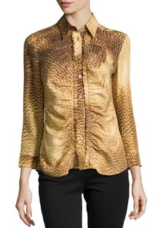 Escada 3/4-Sleeve Printed Blouse