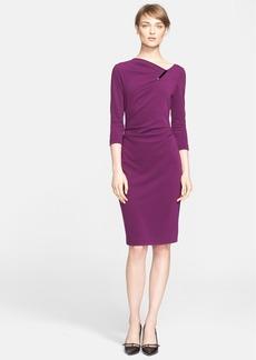 ESCADA Asymmetrical Neck Jersey Dress