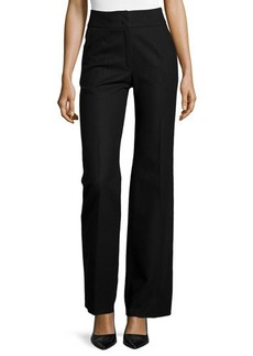 Escada Banded Waist Wool Pants, Black
