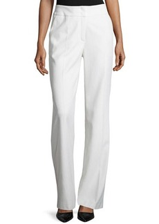 Escada Banded Waist Wool Pants, Off White