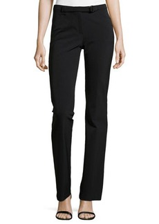Escada Belted Slim Pants, Black
