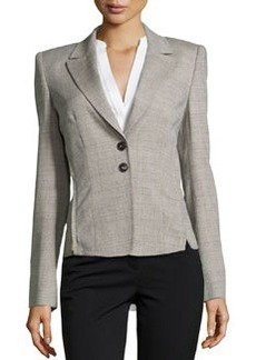 Escada Bolla Notched-Lapel Blazer, Shadow