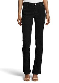 Escada Boot-Cut Corduroy Pants, Black