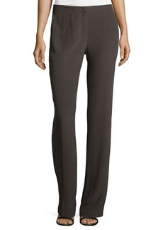Escada Boot-Cut Silk Pants, Granite