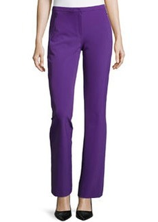 Escada Boot-Cut Zip-Pocket Pants, Iris