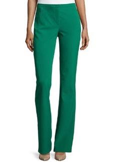 Escada Boot-Cut Zip-Pocket Pants, Smaragd