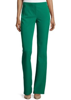 Escada Boot-Cut Zip-Pocket Pants, Smaragd
