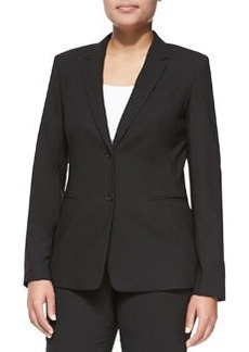 Escada Bulca Two-Button Blazer, Black