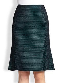 Escada Checkerboard Jacquard Skirt