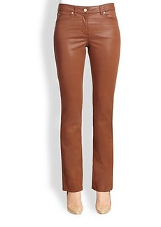 Escada Coated Cotton Jeans