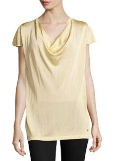 Escada Cowl-Neck Knit Top, Gold
