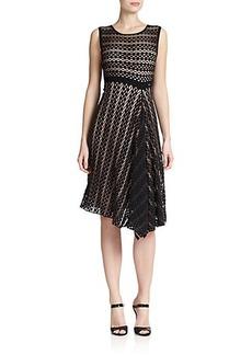 Escada Crochet-Knit Draped Dress