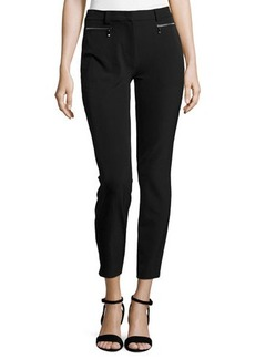 Escada Cropped Pants W/ Zip Pockets