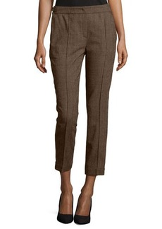 Escada Cropped Wool-Blend Pants, Camel
