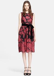 ESCADA 'Darmalisata' Belted Embroidered Dress
