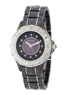 Escada Diamond Adriana Three-Hand Watch, Black