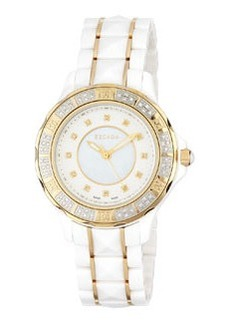 Escada Diamond Adriana Three-Hand Watch, White