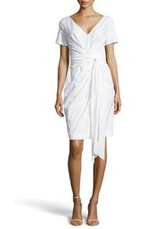 Escada Dipti Short-Sleeve Wrap Dress, White