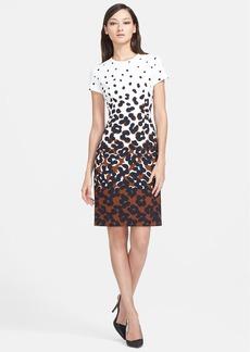 ESCADA Dot Print Sheath Dress