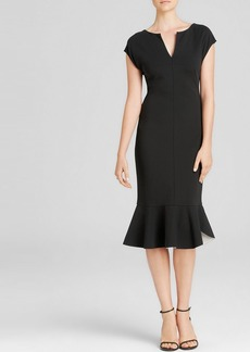 Escada Dress - Cap Sleeve with Peplum Bottom