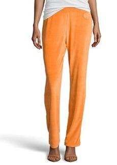 Escada Egzona Velour Jersey Pants, Orange