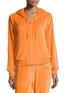 Escada Einharde Velour Jersey Jacket, Orange