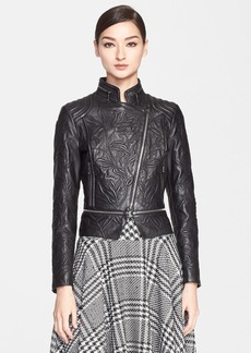 ESCADA Embossed Lambskin Leather Jacket