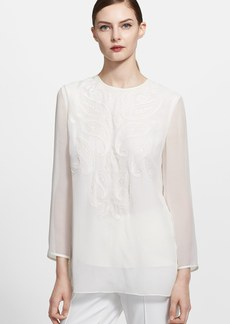 ESCADA Embroidered Silk Blouse