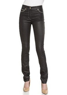 Escada Five-Pocket Pants, Charcoal