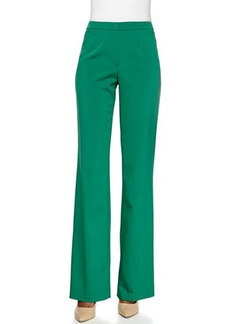 Escada Flat-Front Boot-Cut Pants