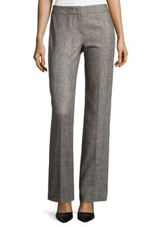 Escada Flat-Front Straight-Leg Pants