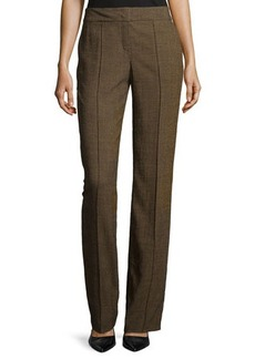 Escada Flat-Front Wool-Blend Pants