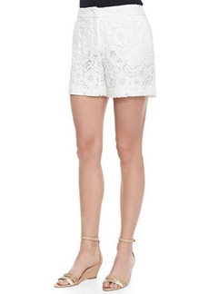 Escada Floral Lace Midi Shorts