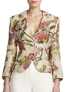 Escada Floral Lurex Jacquard Jacket