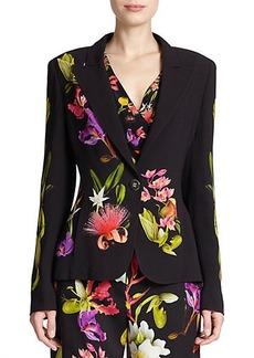 Escada Floral-Print Jacket