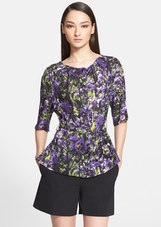 ESCADA Floral Print Silk Blouse