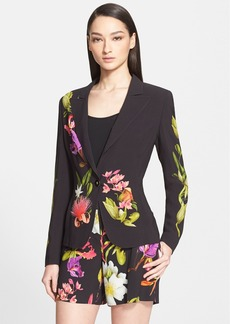 ESCADA Floral Print Single Button Jacket