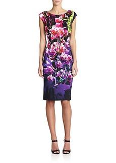 Escada Floral Silk Dress