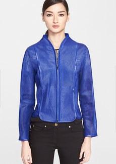 ESCADA Genuine Calf Hair & Lambskin Leather Jacket