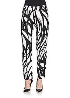 Escada Geometric Print Pants